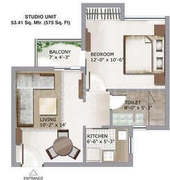 1 BHK Apartment in 3C Lotus Zing