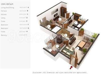 2 BHK Apartment in 3C Lotus Panache