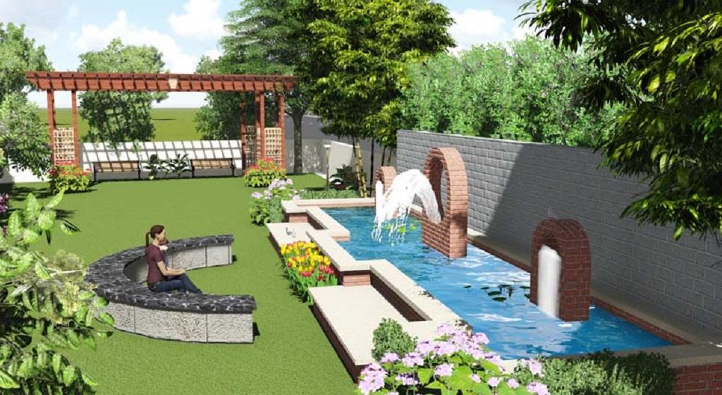 Global Green Apple Villas Artistic Landscape Garden
