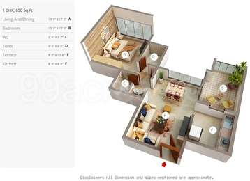 1 BHK Apartment in 5 Star Royal Entrada