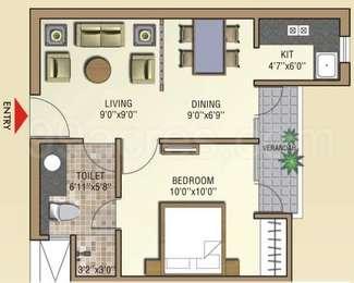1 BHK Apartment in Aditya Celebrity Homes