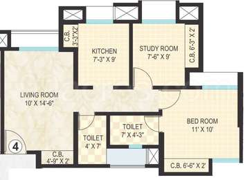 1 BHK Apartment in Dosti Vihar