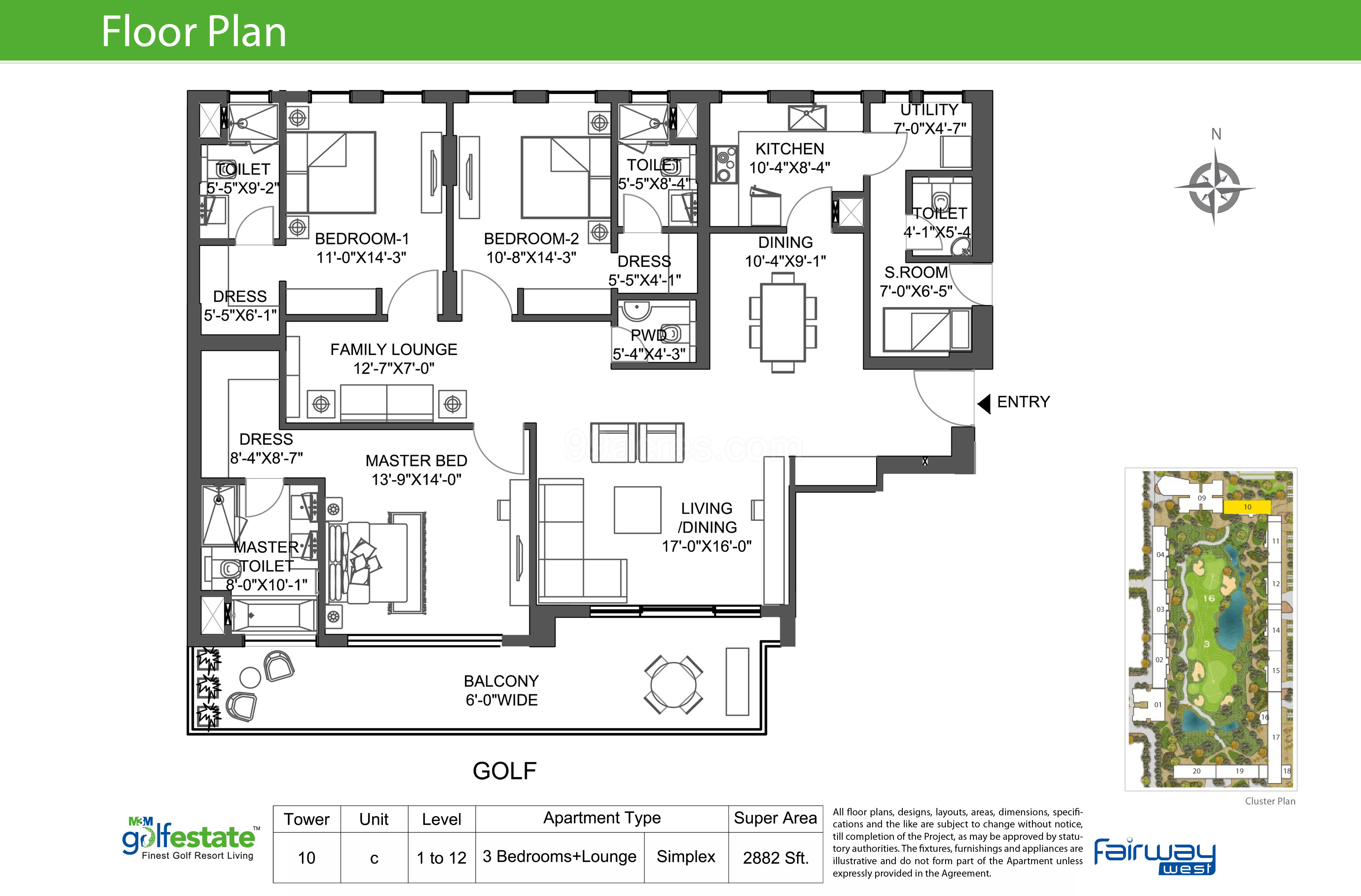 M3m Builders M3m Golf Estate Floor Plan M3m Golf Estate