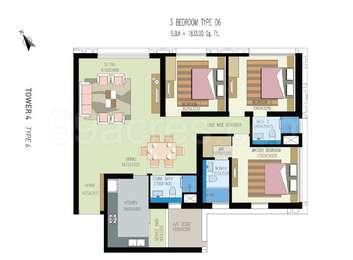 3 BHK Apartment in Urbana Apartment