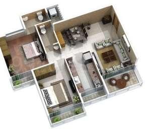 2 BHK Apartment in Laxmi Icon