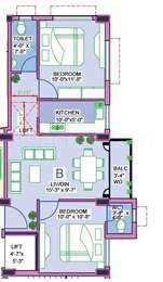 2 BHK Apartment in Yahvi Tower