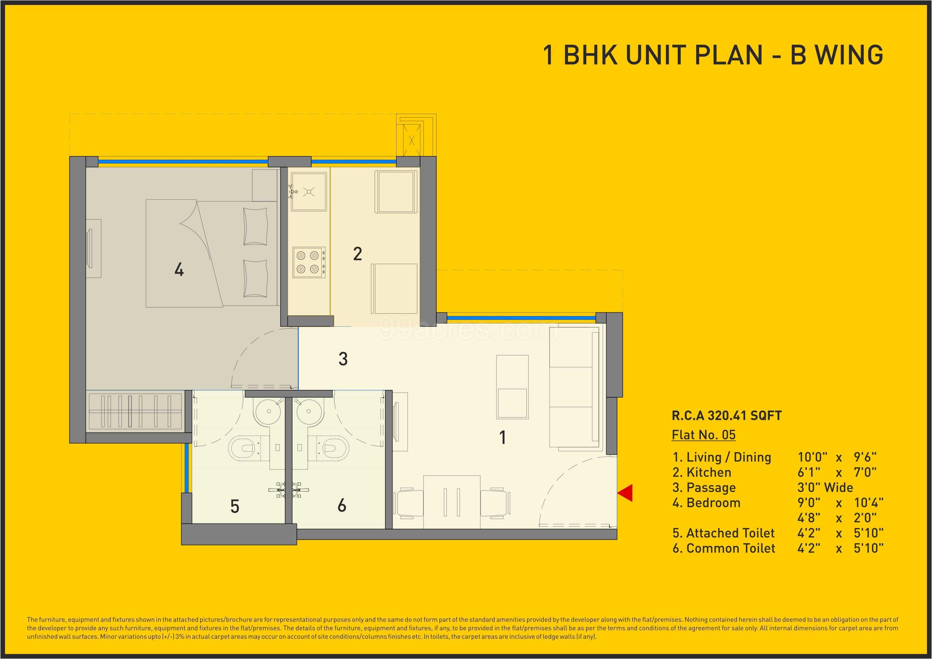 Carpet Area 320 41 Sq Ft Apartment