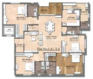 4 BHK Apartment in A Victory Creek