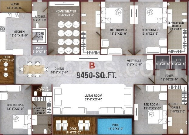 Surat Aakash Expressions Floor Plan