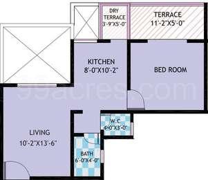 1 BHK Apartment in Asha Shaama Estate Phase 2
