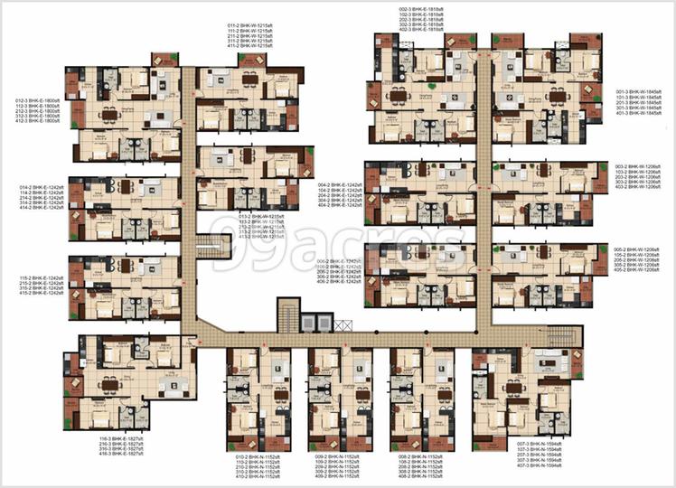 Aashrayaa Onyx Typical Plan