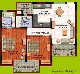 Aba orange county resale in indirapuram ghaziabad - One bedroom apartment in orange county ...