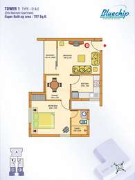 1 BHK Apartment in ABAD Bluechip