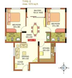 2 BHK Apartment in ABAD The Chancellor
