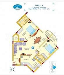 2 BHK Apartment in ABAD Aquarius