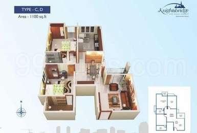 2 BHK Apartment in ABAD Knightsbridge