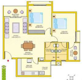 2 BHK Apartment in ABAD Green Terrace