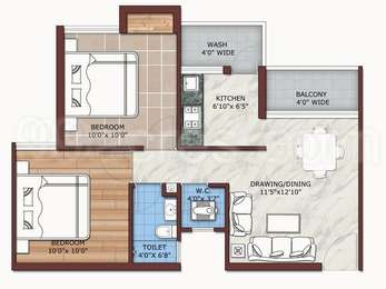 2 BHK Apartment in Asnani Spring Valley Dew