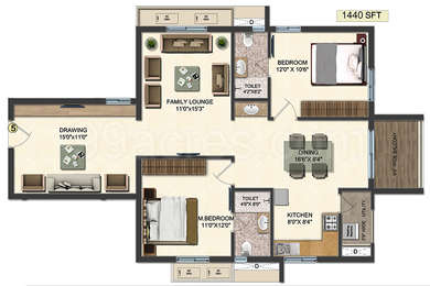 2 BHK Apartment in Accurate Wind Chimes