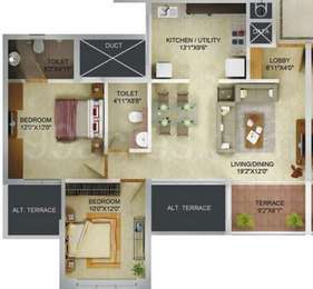 2 BHK Apartment in Acropolis Purple Nine Hills