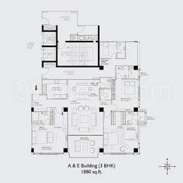 3 BHK Apartment in Voyage To The Stars
