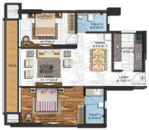 2 BHK Apartment in Adani Western Heights
