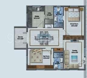2 BHK Apartment in Aditya Imperial Heights