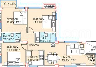 3 BHK Apartment in Adya Exotica Heights