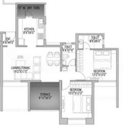 2 BHK Apartment in AG Imperial Towers