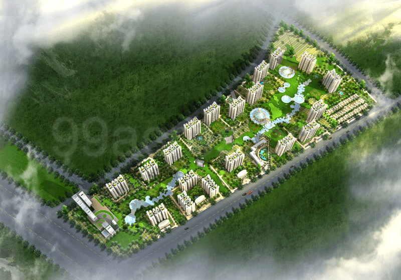 Aims Golf Town Aerial View
