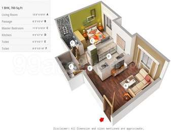 1 BHK Apartment in Divyam Heights