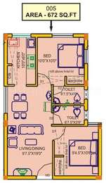 2 BHK Apartment in AKS Serenity
