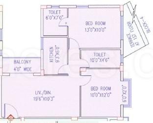 2 BHK Apartment in Akshara Niloy
