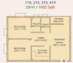 2 BHK Apartment in Alishan Infinia