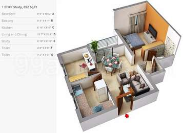 1 BHK Apartment in Alliance Orchid Springss