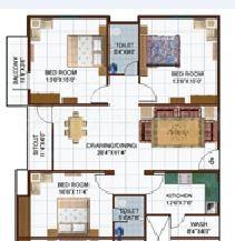 3 BHK Apartment in Amaltas Avenue