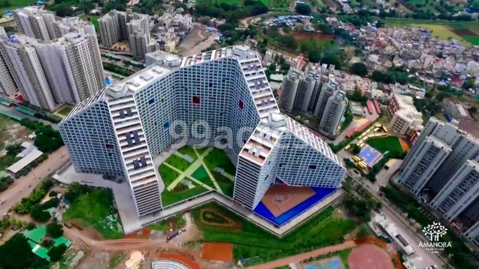 Amanora Future Towers Aerial View