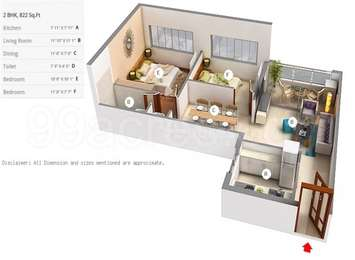 2 BHK Apartment in Amanora Future Towers