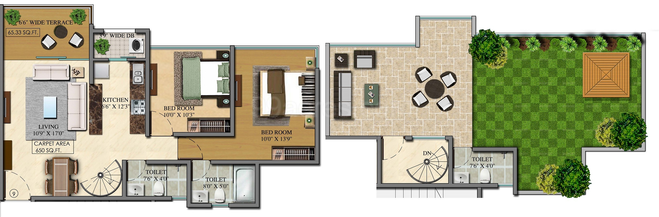 where to get house plans cape town. 2BHK 3T Terrace 5  Carpet Area 650 sq ft Apartment Amar Infra Capetown Floor Plan Igatpuri Nasik