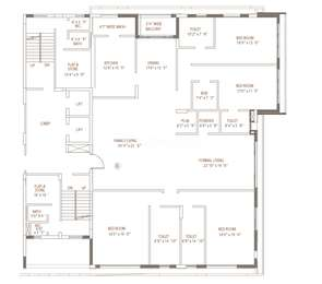 4 BHK Apartment in Two Janki Shah