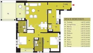 2 BHK Apartment in Ambuja Upohar The Condoville