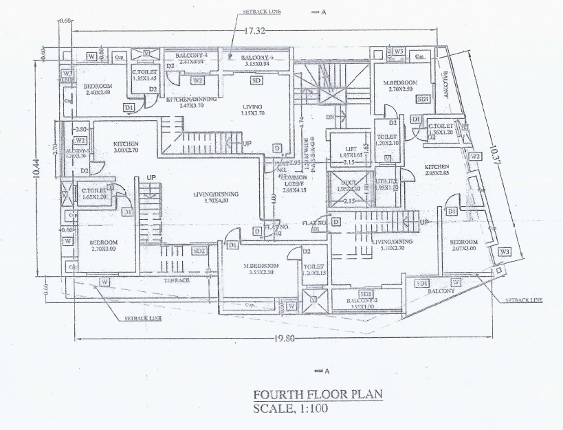 Amit Datta Krupa Sankul Typical Floor Plan