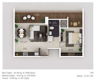 1 BHK Apartment in Amanora Neo Towers