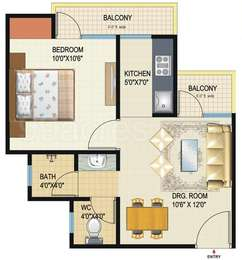 1 BHK Apartment in Amrapali Dream Valley High Rise