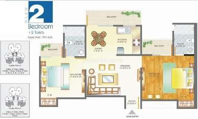 2 BHK Apartment in Pan Oasis