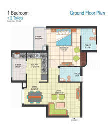 1 BHK Apartment in Amrapali Silicon City