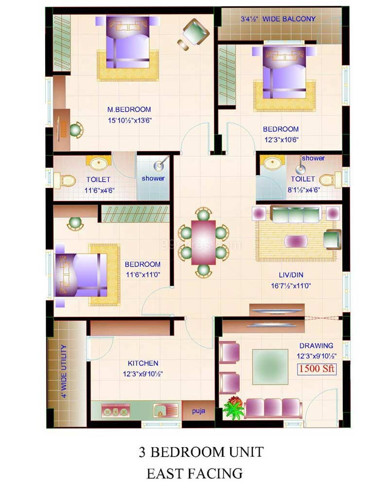 Amulya Constructions Amulya Fortune Floor Plan - Amulya Fortune ...