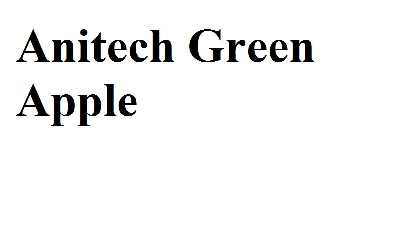 LOGO - Anitech Green Apple
