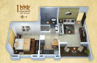 1 BHK Apartment in Anjani Gaatha