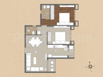 2 BHK Apartment in Ankur Palm Springs